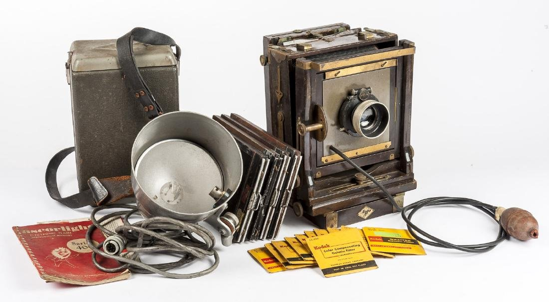 Agfa Ansco Accordion Box Camera Outfit in Cases