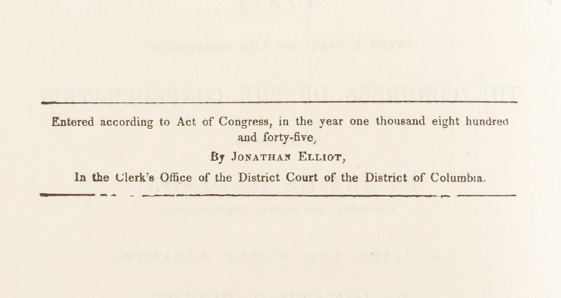 Elliot's Debates of the Federal Constitution - 2