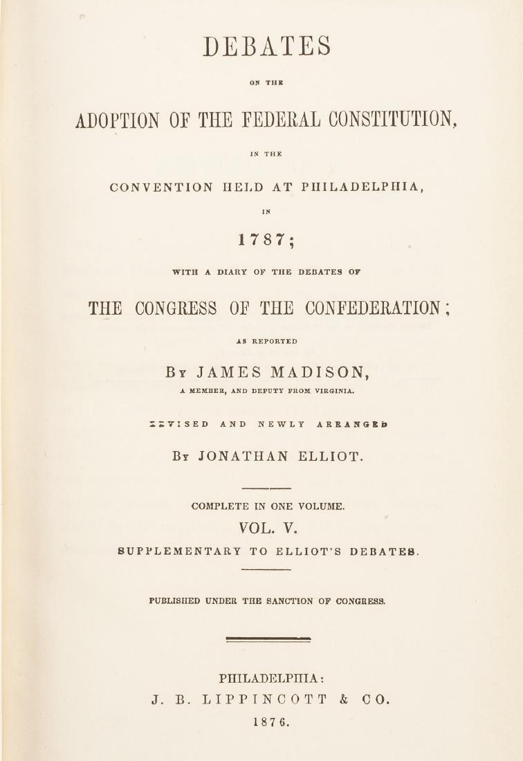 Elliot's Debates of the Federal Constitution - 3