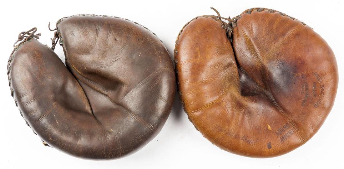 2 1930's Catcher's Mitts incl Mickey Owen