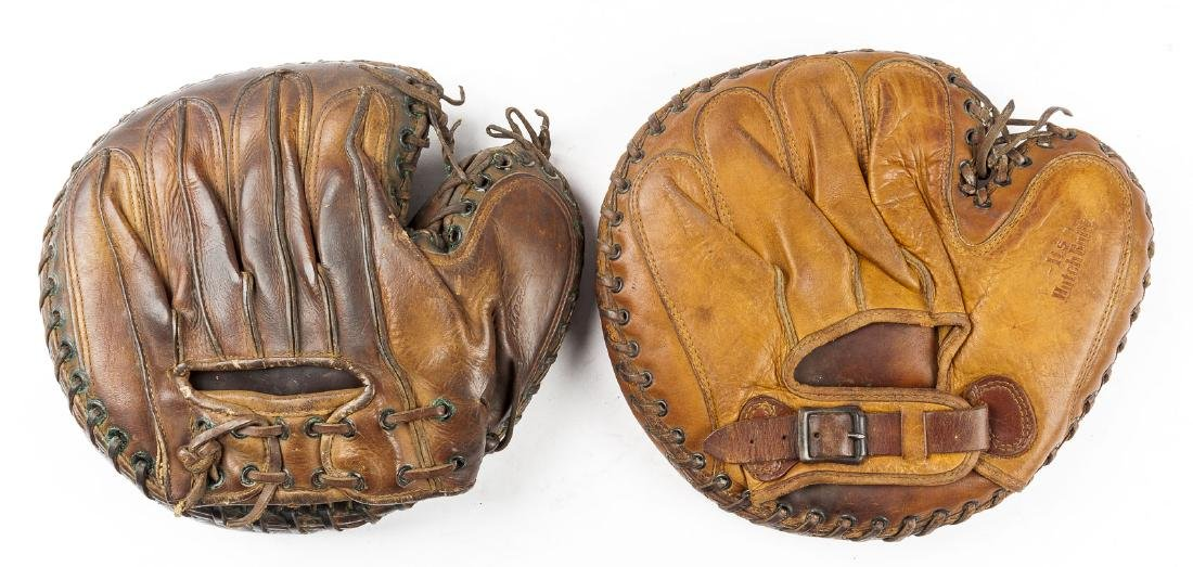 2 1930's Catcher's Mitts incl Mickey Owen - 2