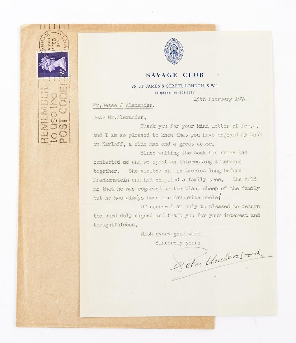Boris Karloff Biography & Karloff Autograph - 3