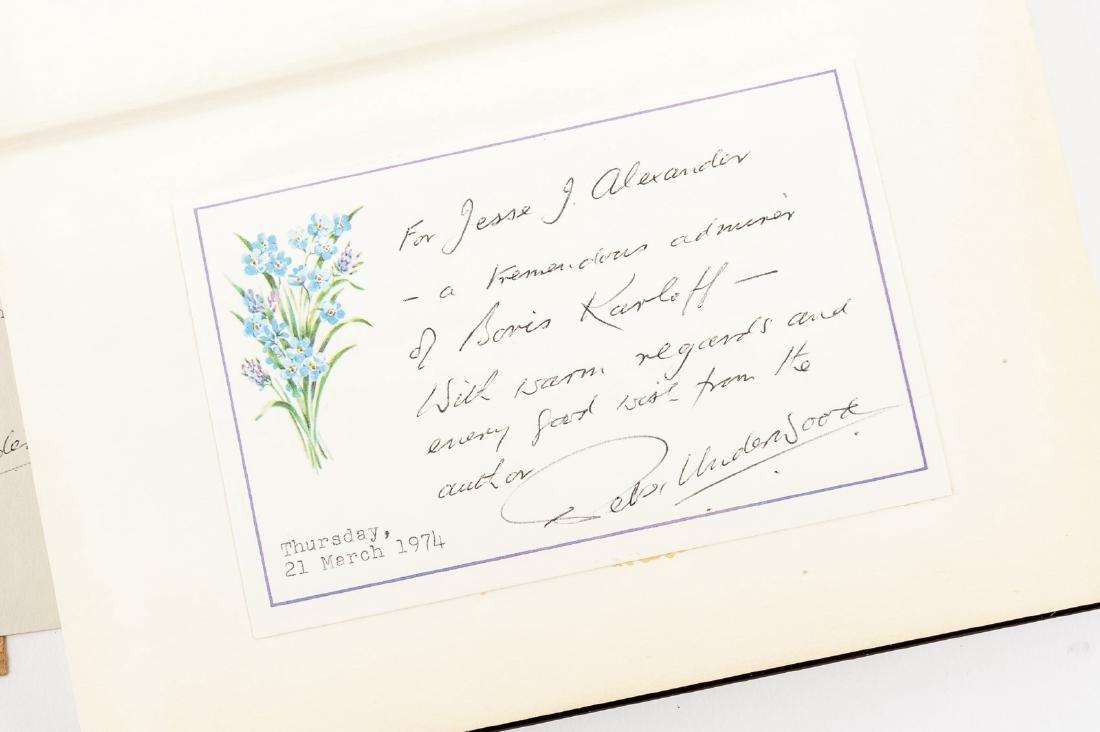 Boris Karloff Biography & Karloff Autograph - 4