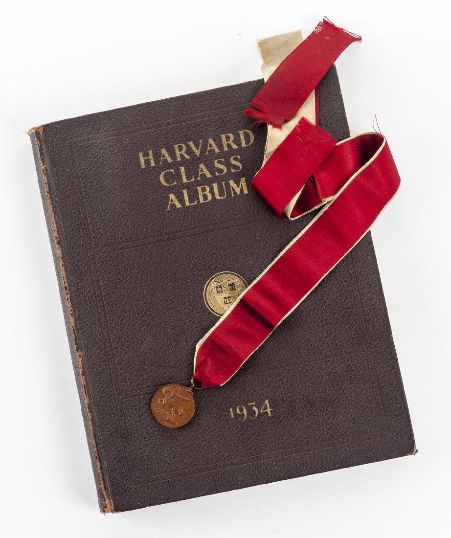 Harvard 1934 Class Album & Advocate Medal