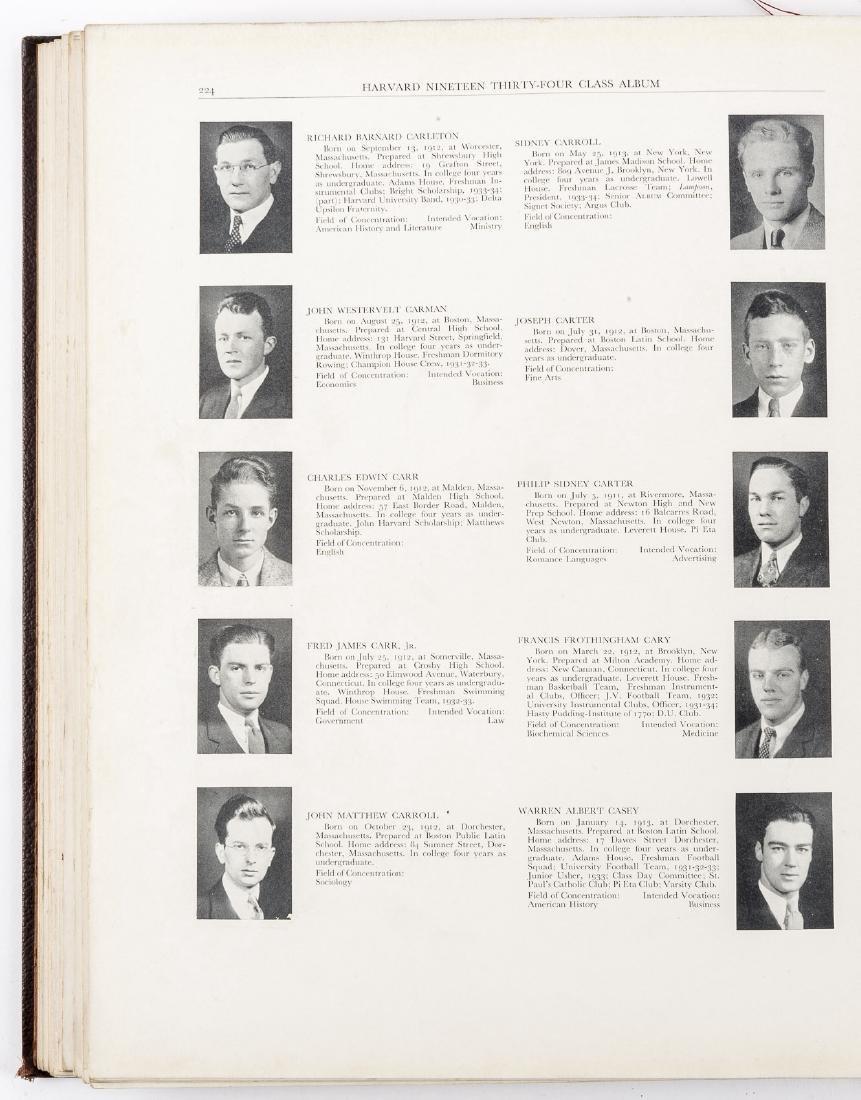 Harvard 1934 Class Album & Advocate Medal - 2