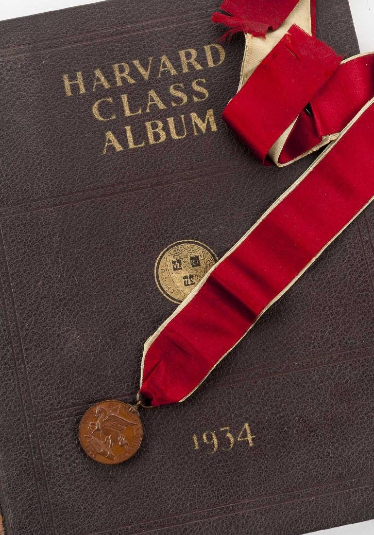 Harvard 1934 Class Album & Advocate Medal - 3