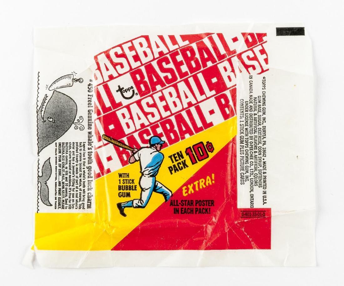 1970-1971 Topps Baseball Wrappers - 2
