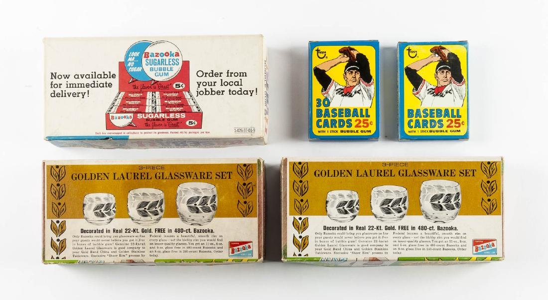 5 Topps Baseball Empty Boxes from 1968-1971 - 2