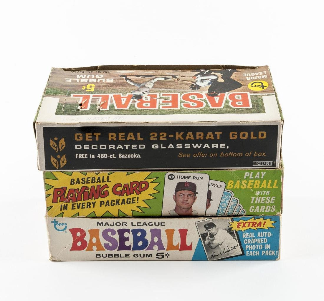 5 Topps Baseball Empty Boxes from 1968-1971 - 3