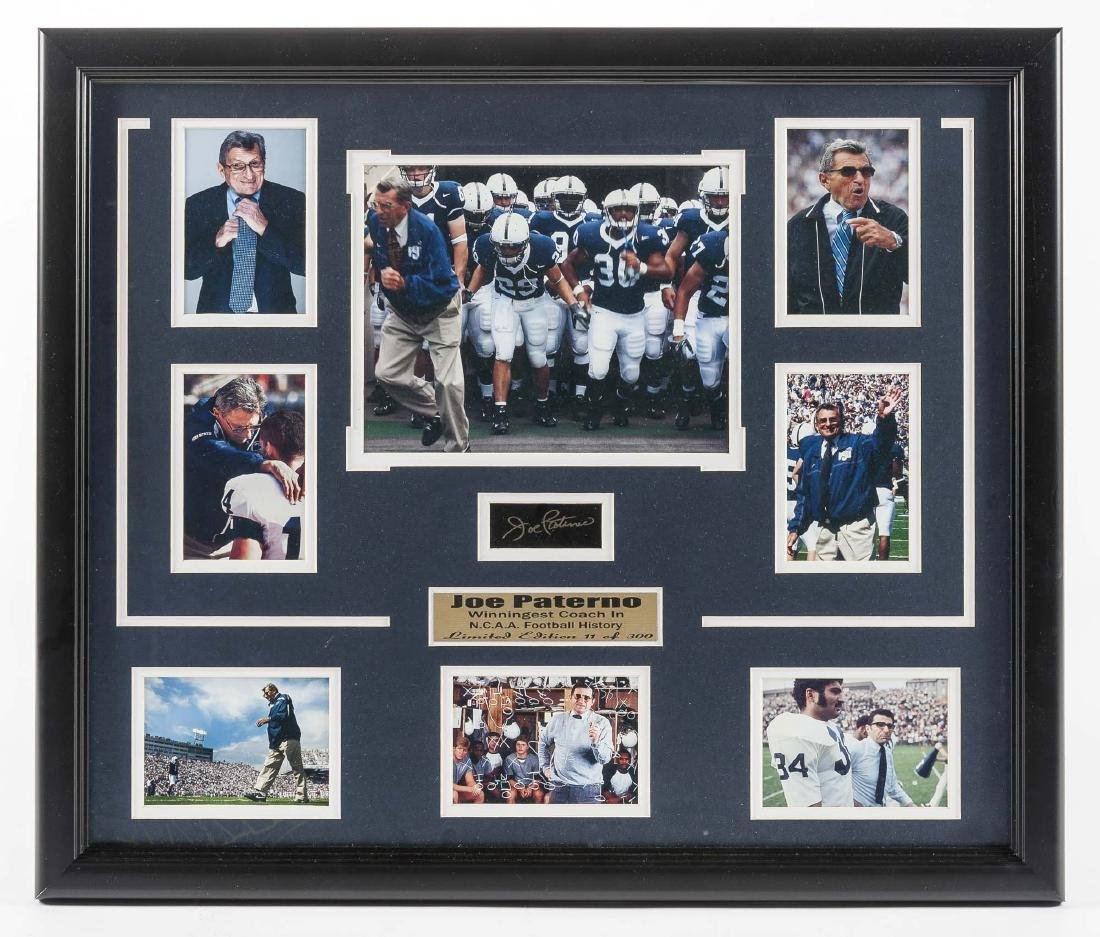 Joe Paterno Collage with Signature