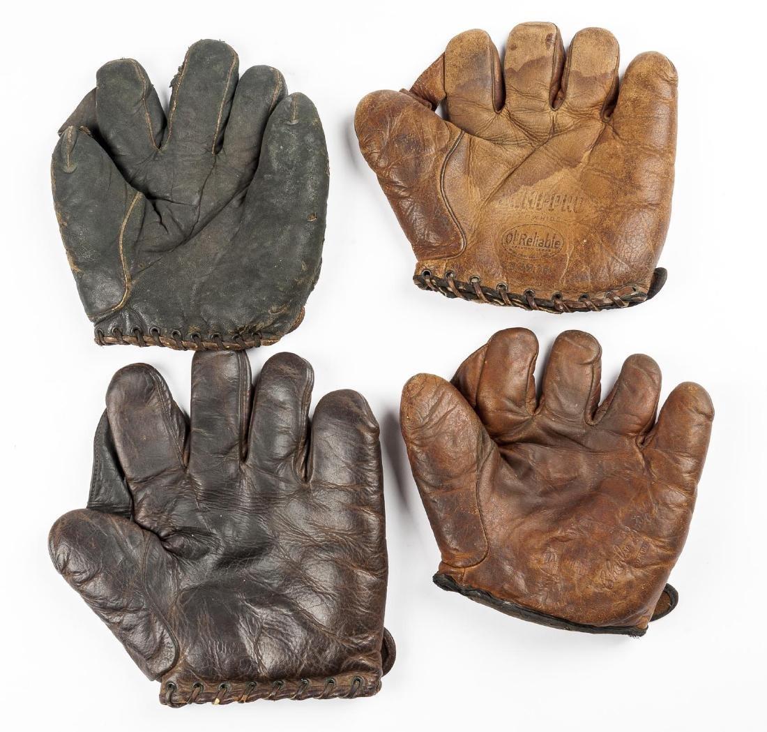 4 1910's & 1920's Web Gloves Incl D & M