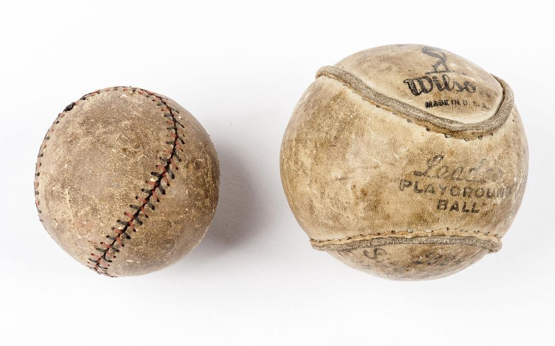 2 Vintage Balls incl Wilson Playground Ball