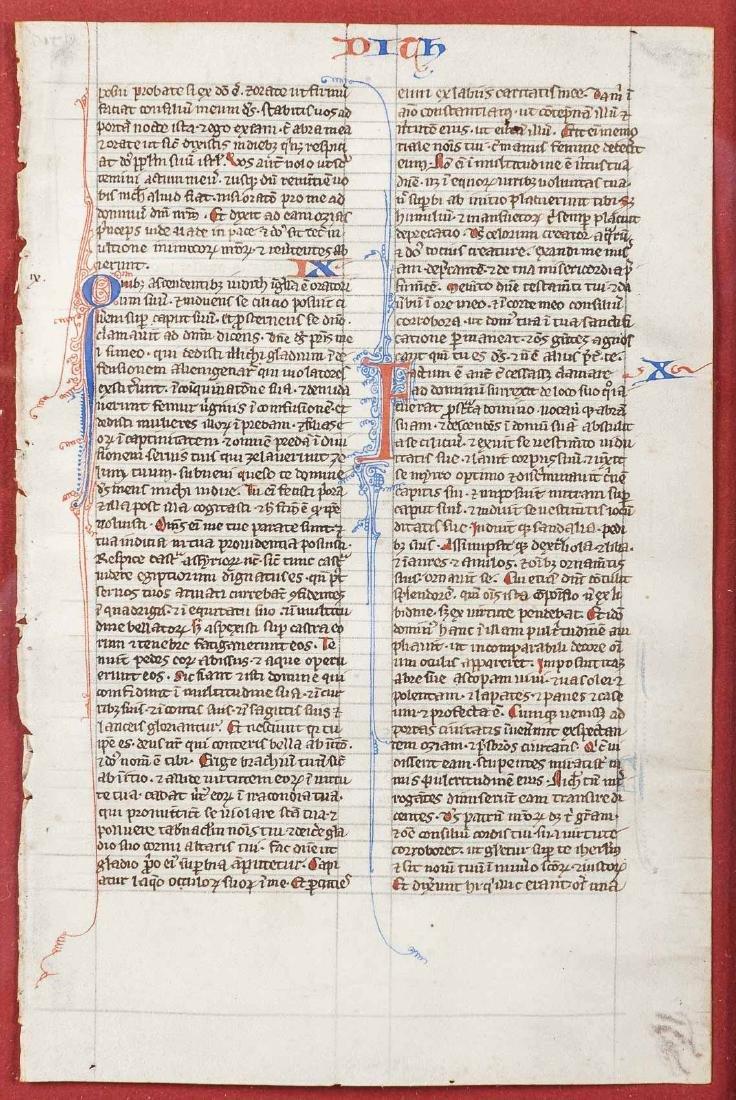 13th C French Illuminated Manuscript Biblia Latina