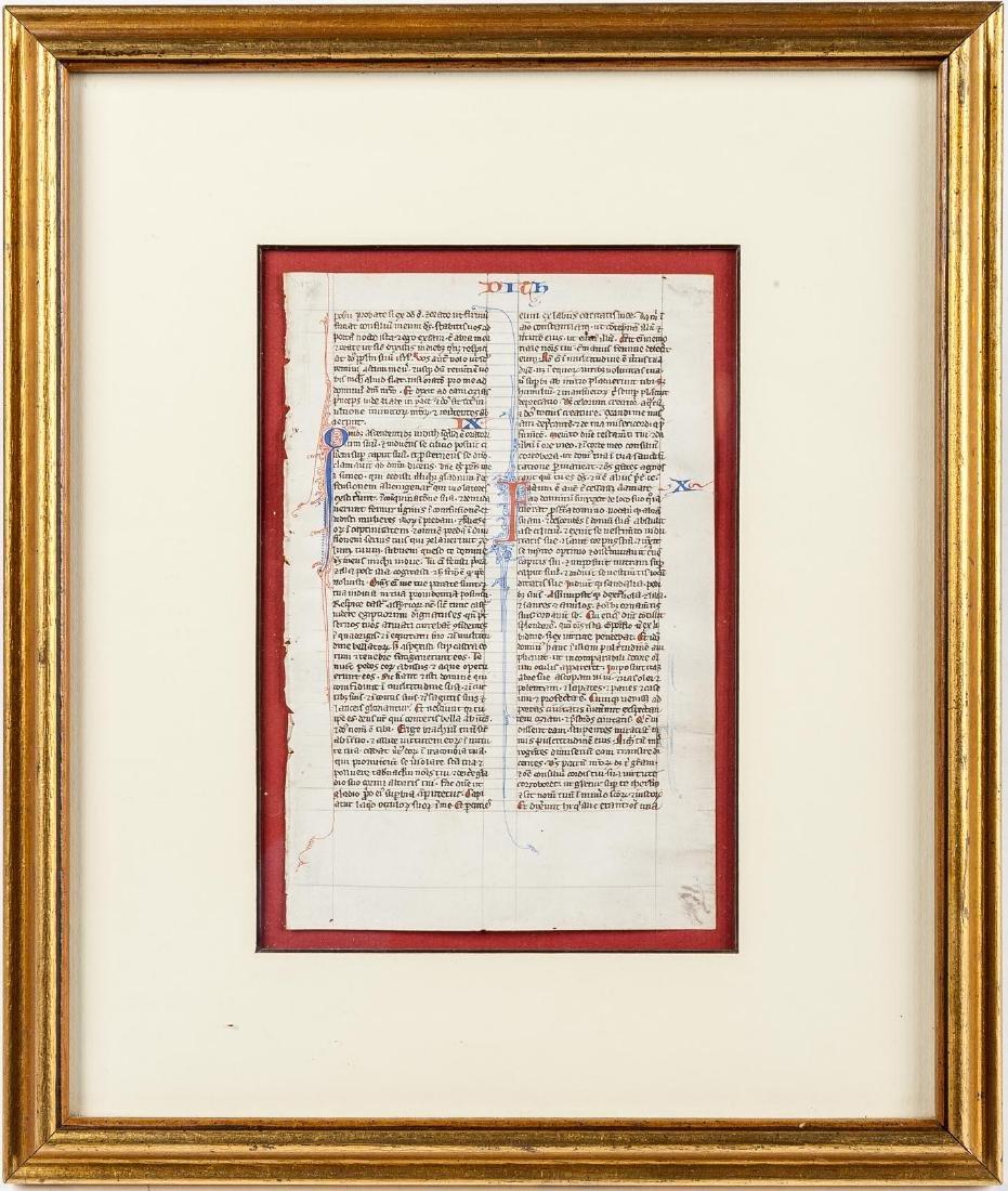 13th C French Illuminated Manuscript Biblia Latina - 3