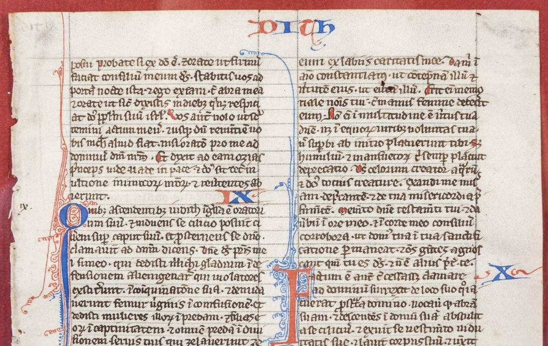 13th C French Illuminated Manuscript Biblia Latina - 4