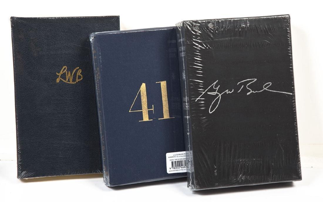 3 Laura & President George Bush Signed Books - 2