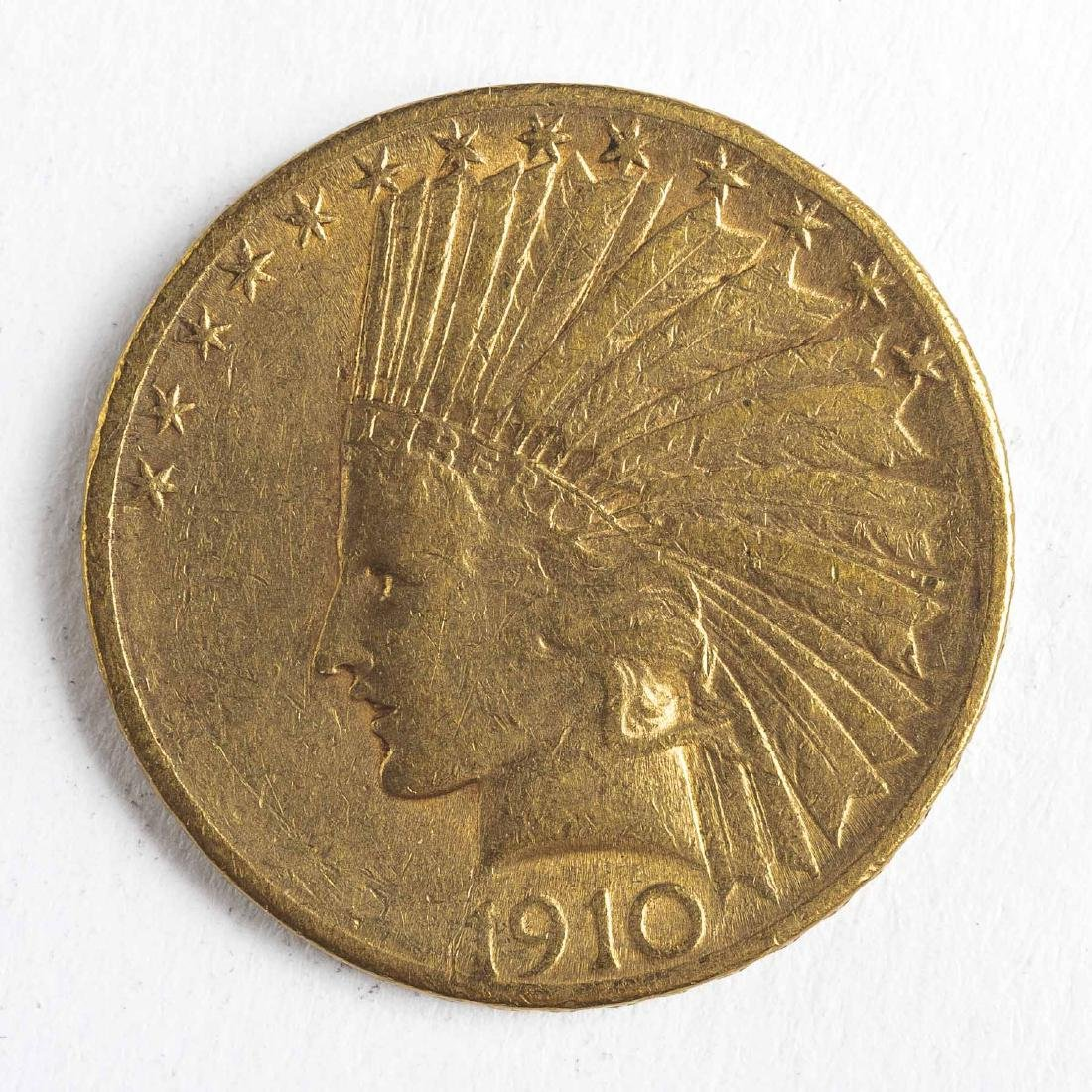 1910-S $10 Indian Head Gold Coin