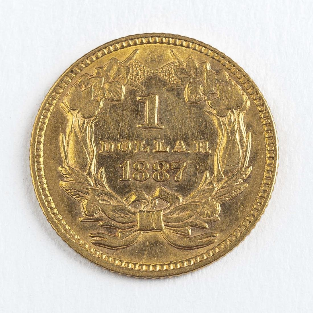 1887 Type III Gold Dollar - 2