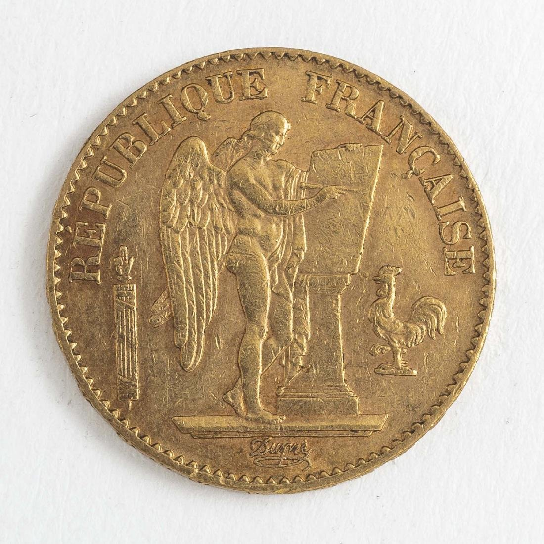 1896 20 Francs Gold Coin