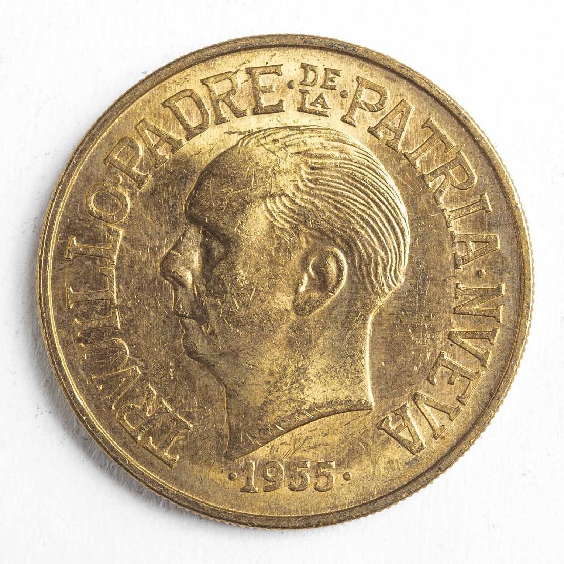 1955 30 Pesos Dominican Gold Coin