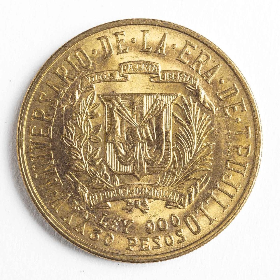 1955 30 Pesos Dominican Gold Coin - 2