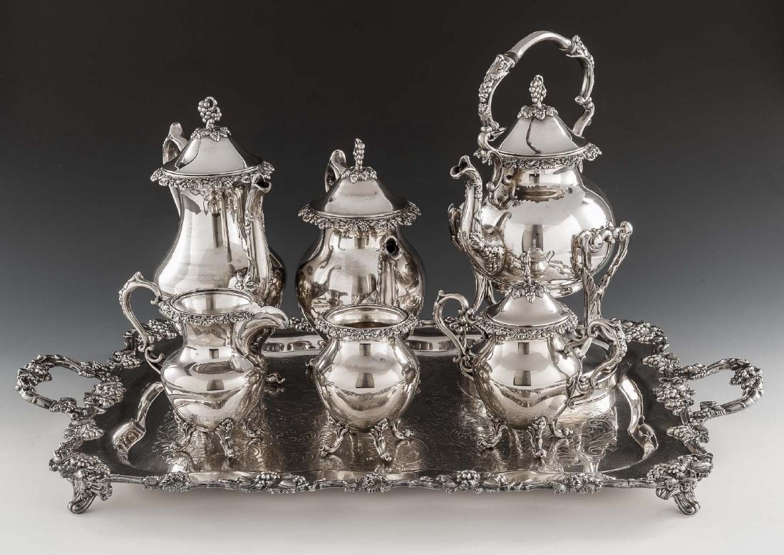 7 Pc Birmingham Silver Co. Silverplate Tea Set
