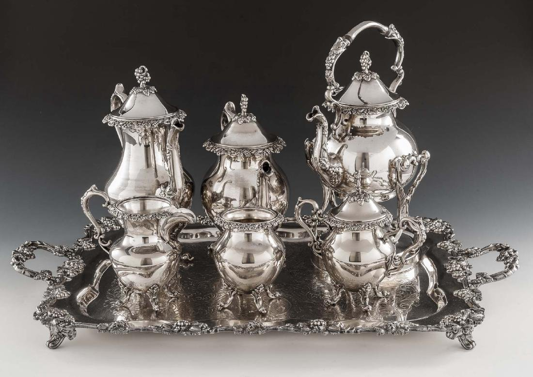 7 Pc Birmingham Silver Co. Silverplate Tea Set