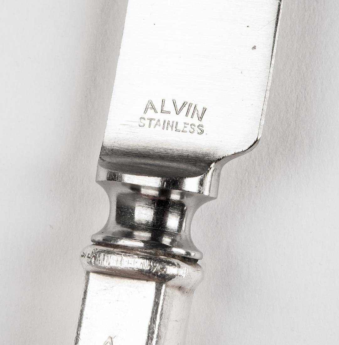26 Pcs Alvin Duquesne Sterling Flatware - 5