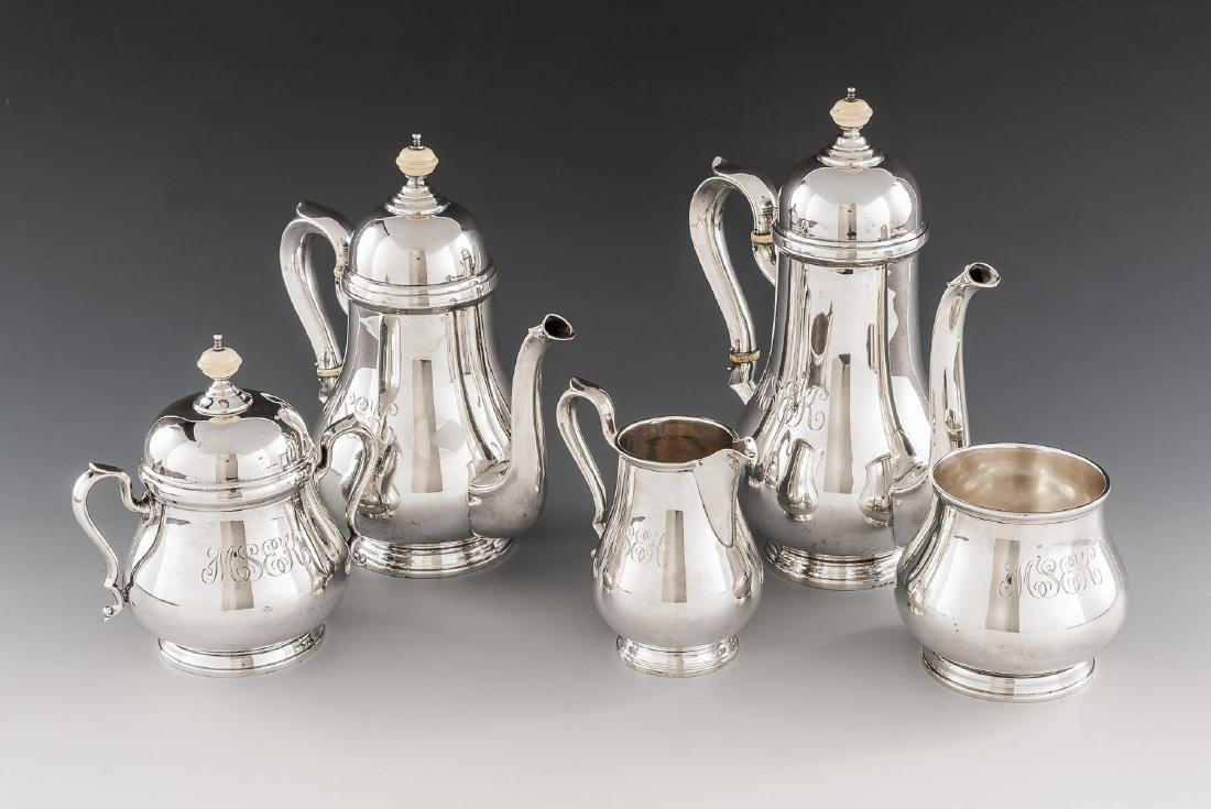 5 Pc Charter Co. Sterling Tea Set