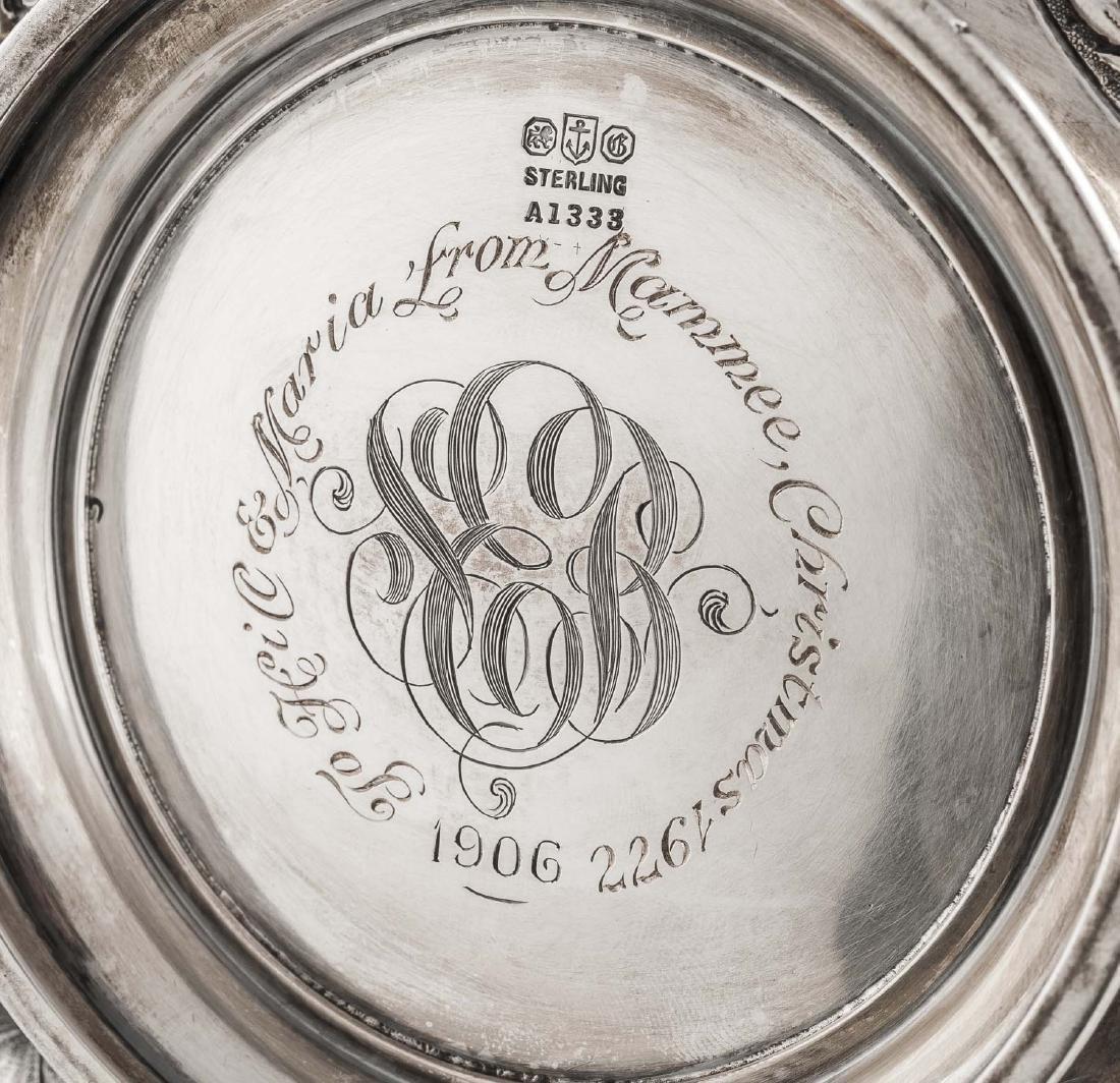 5 Pc Gorham Repousse Sterling Tea Set - 2