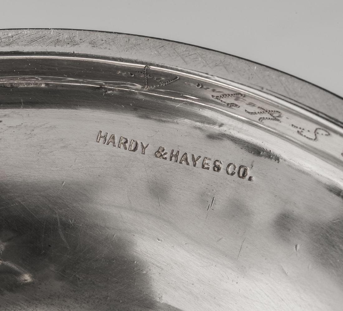 6 Pcs Hardy & Hayes Sterling Tea Set & Tray - 2