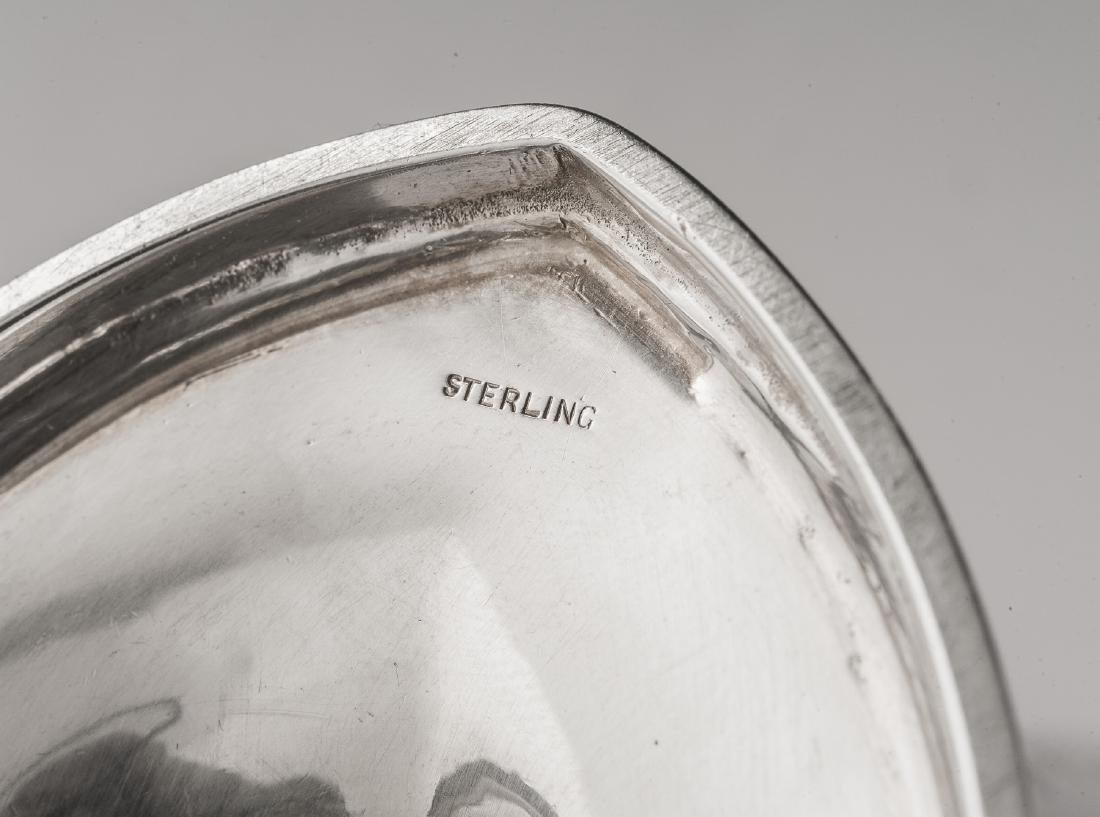 6 Pcs Hardy & Hayes Sterling Tea Set & Tray - 5