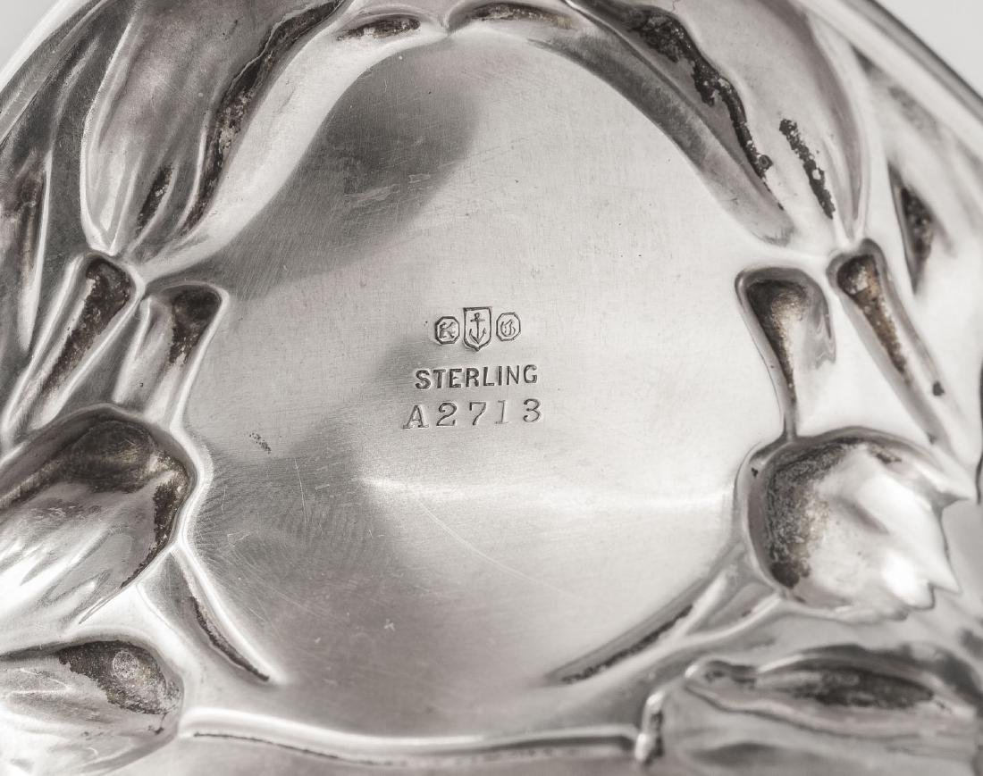 2 Small Gorham Art Nouveau Sterling Trays - 3