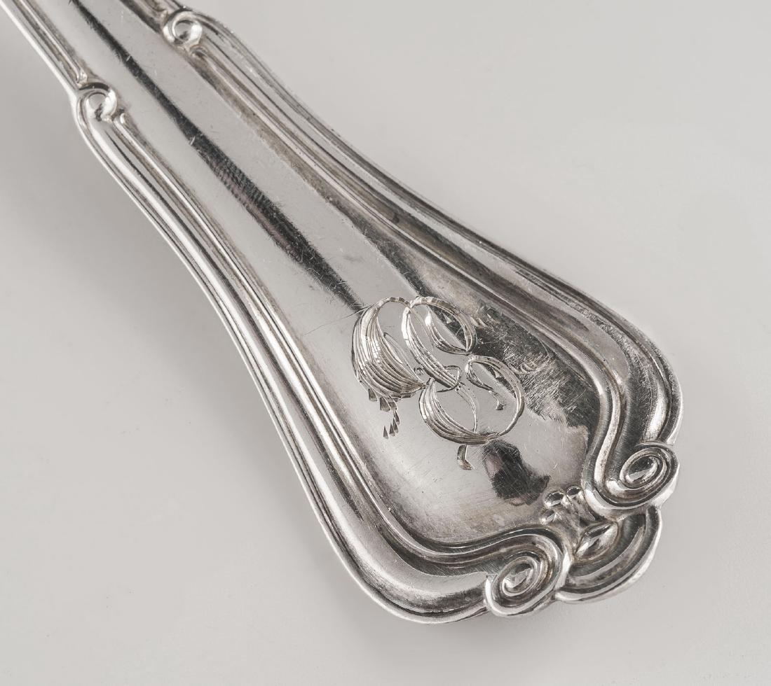 6 Gorham Sterling Norfolk Soup Spoons - 2
