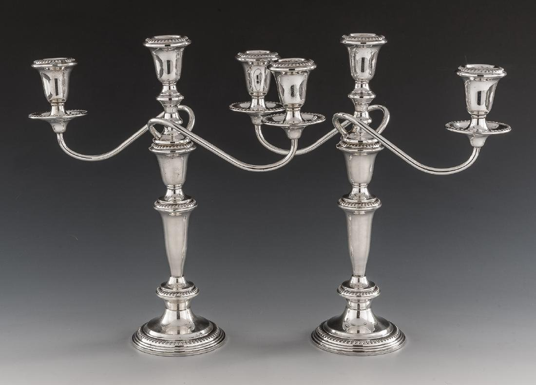 Pair of Sterling Weighted Candelabra