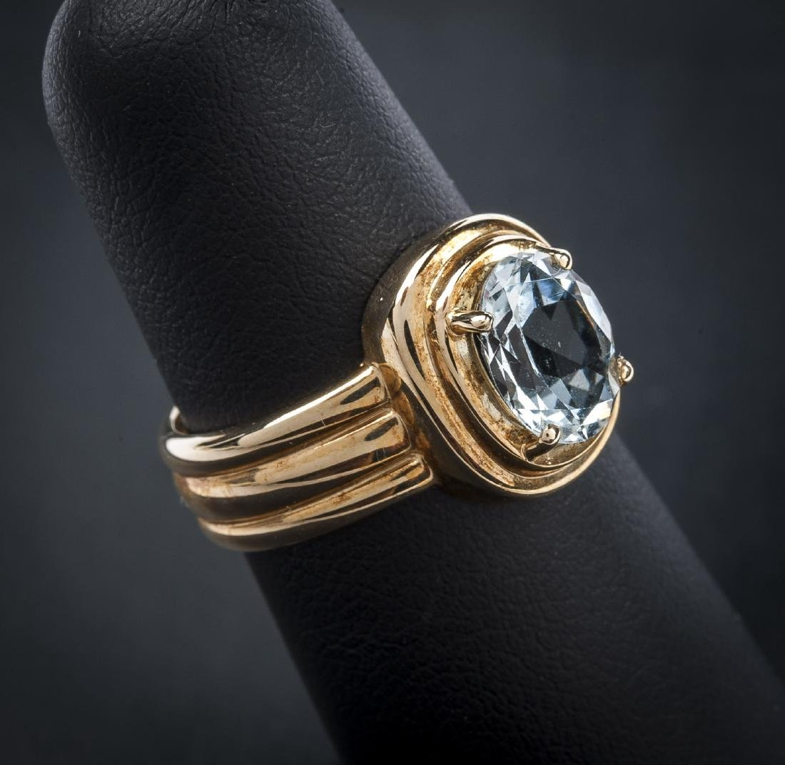 10K Aquamarine Ring - 3