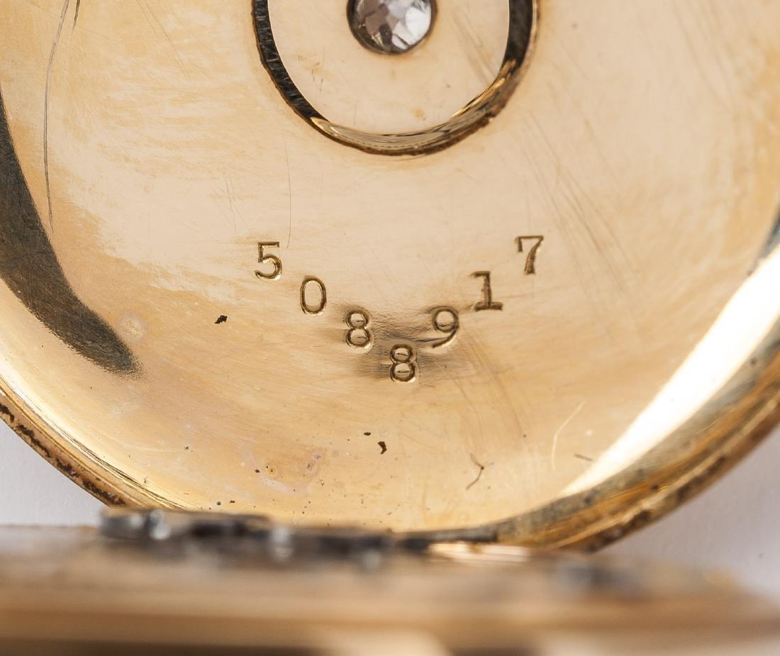 Lady's 14K Illinois 17J Pendant Watch with Diamond - 6