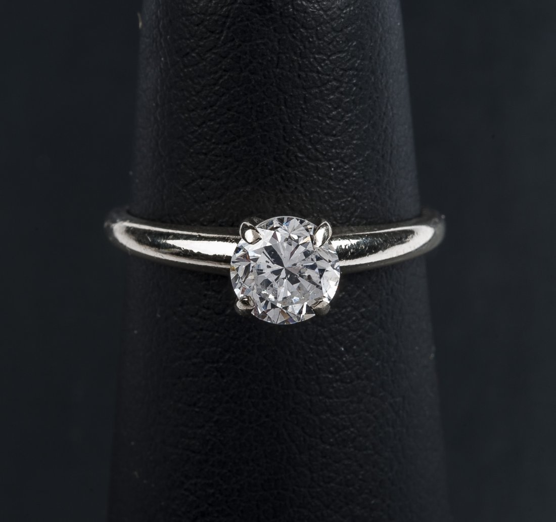 14K .67 Carat Diamond Solitaire Ring - 2