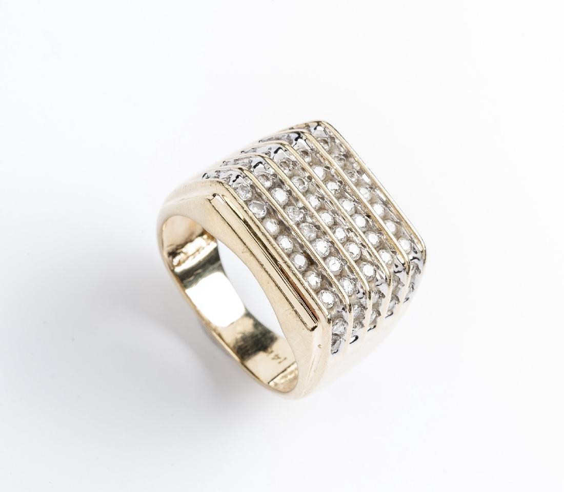 14K 1.1 CTW Man's Diamond Ring