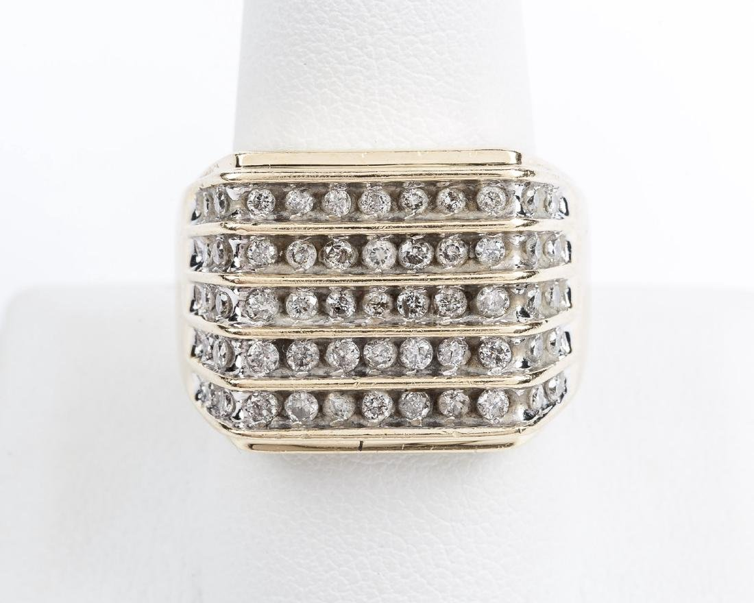 14K 1.1 CTW Man's Diamond Ring - 2
