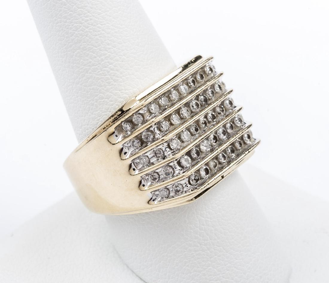 14K 1.1 CTW Man's Diamond Ring - 3