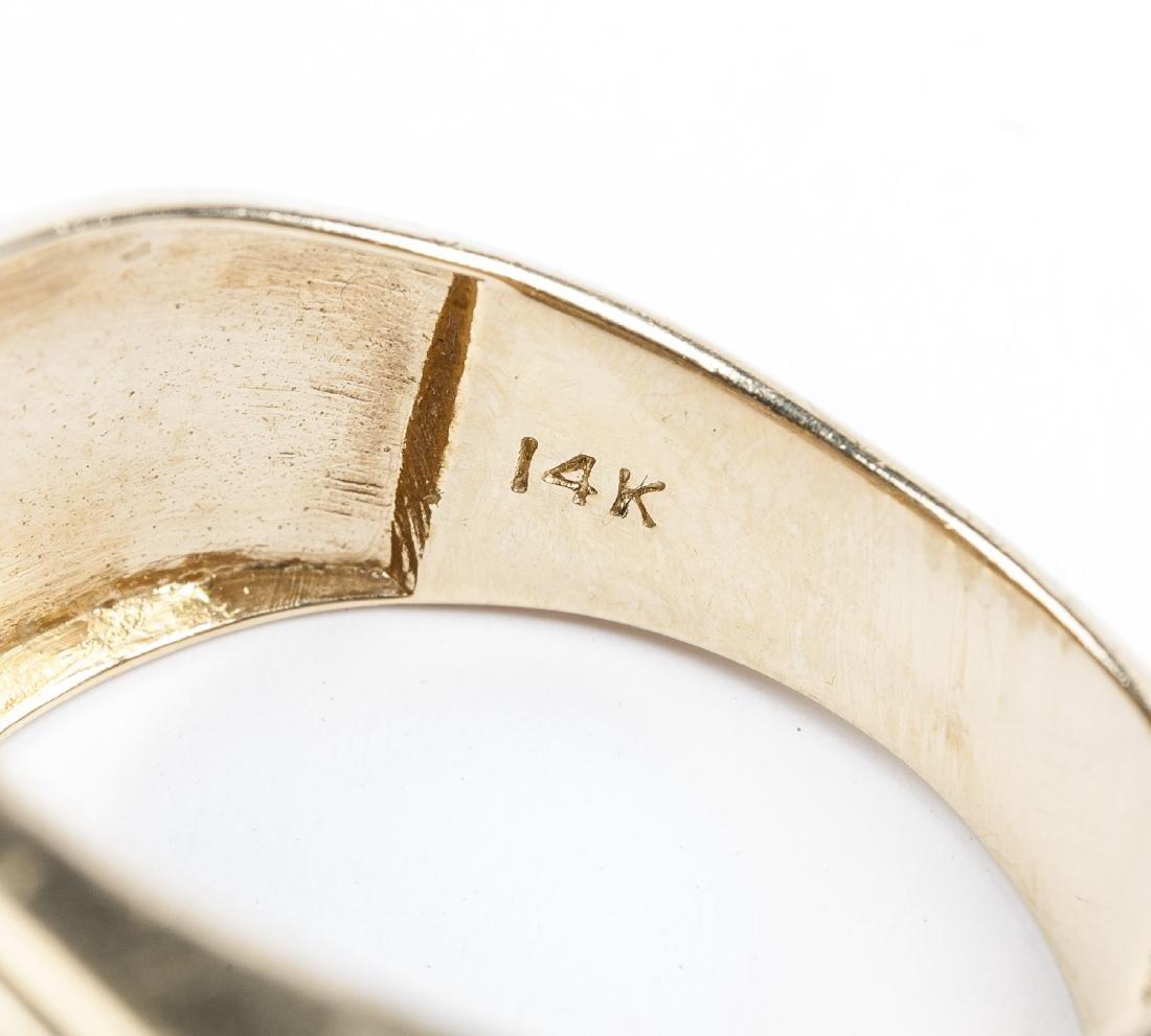 14K 1.1 CTW Man's Diamond Ring - 4