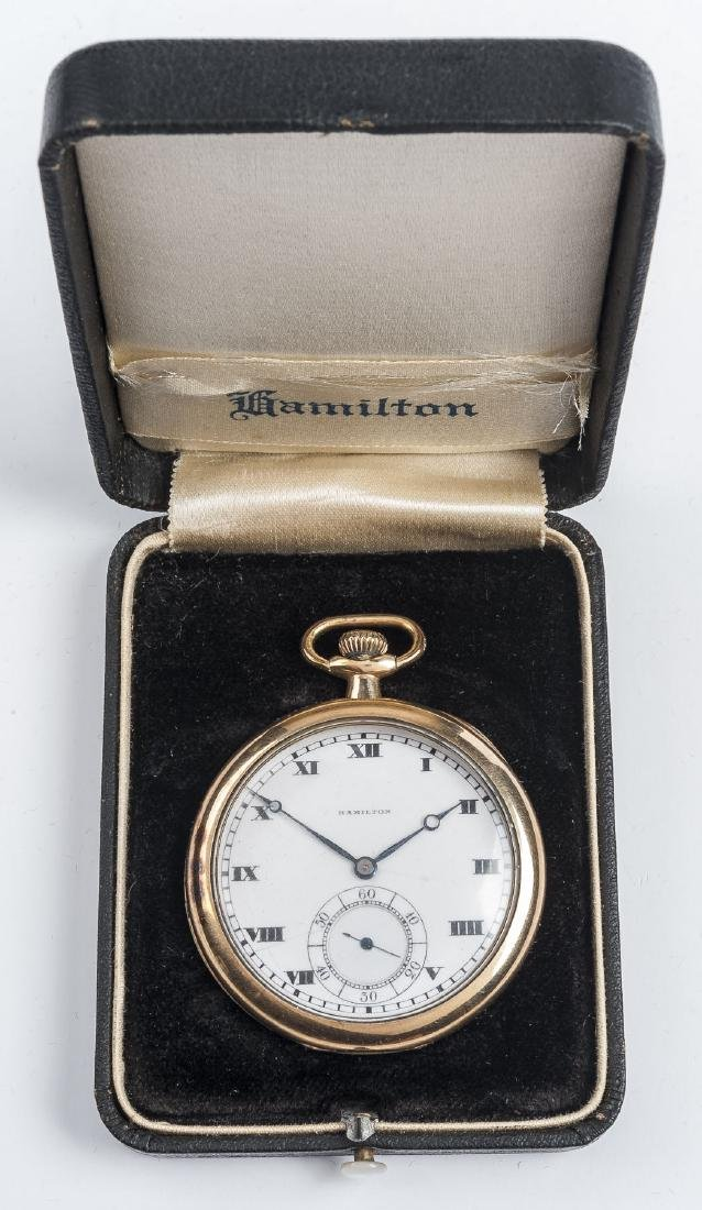 Hamilton 17J Grade 910 Pocket Watch in Orig Box - 7