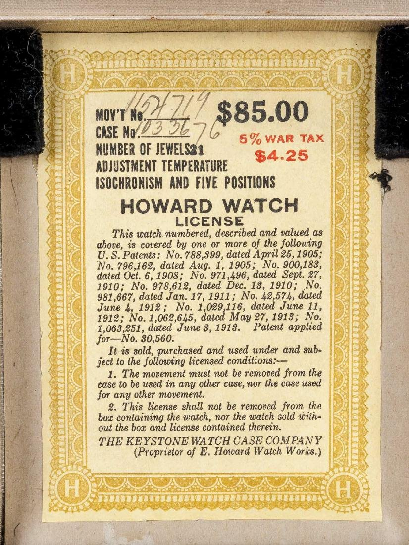 Howard 21J Series 10 Pocket Watch in Orig Box - 9
