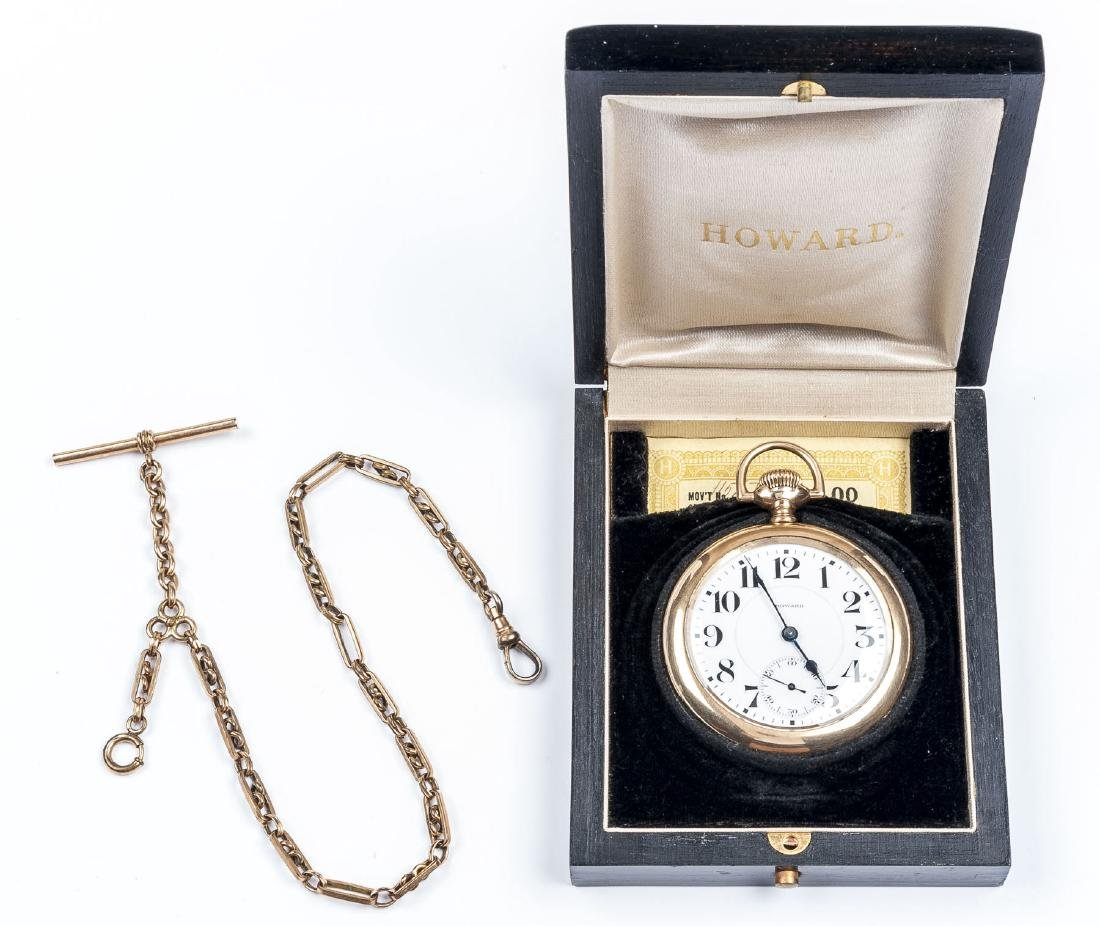 Howard 21J Series 10 Pocket Watch in Orig Box