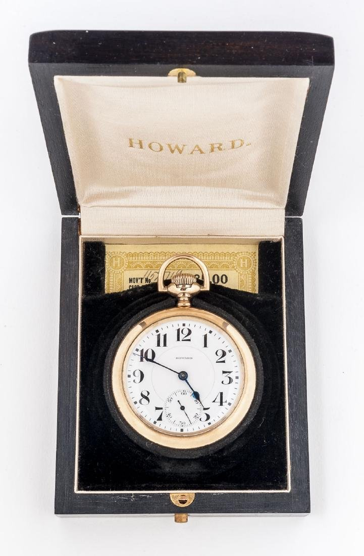 Howard 21J Series 10 Pocket Watch in Orig Box - 4