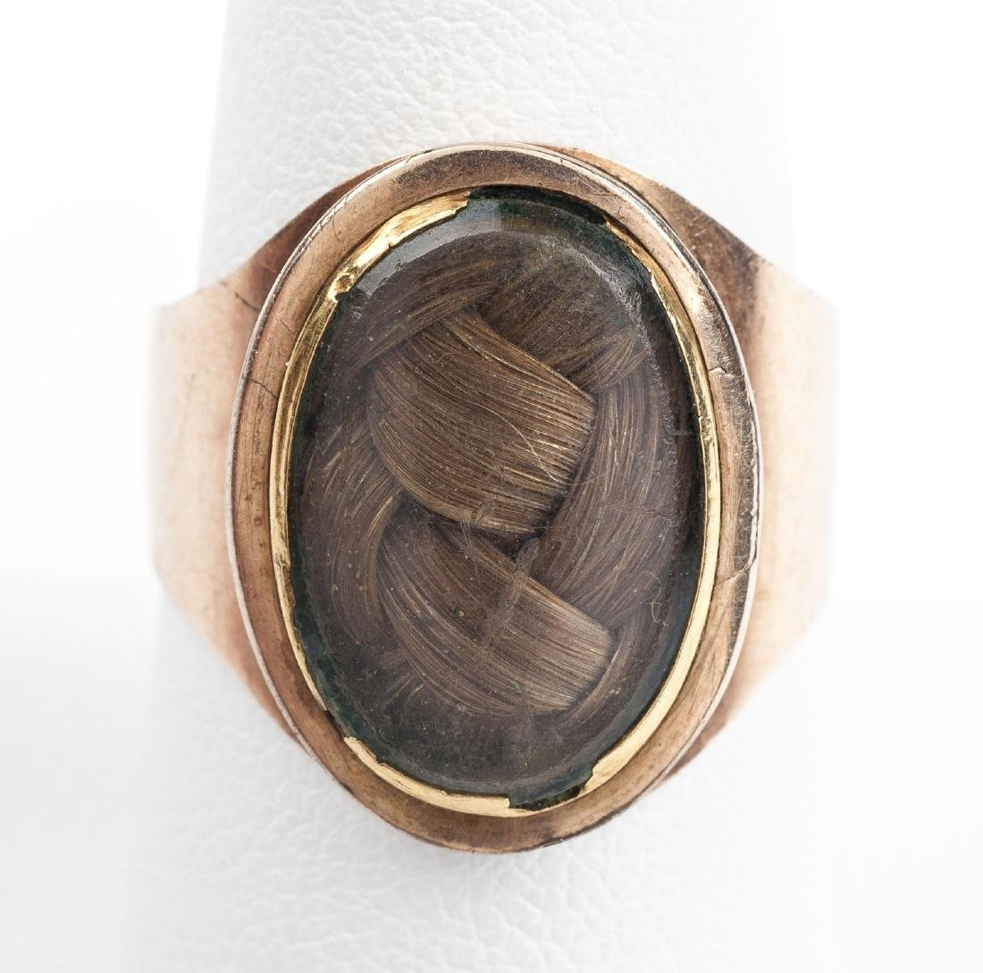 9K Georgian Woven Hair Ring