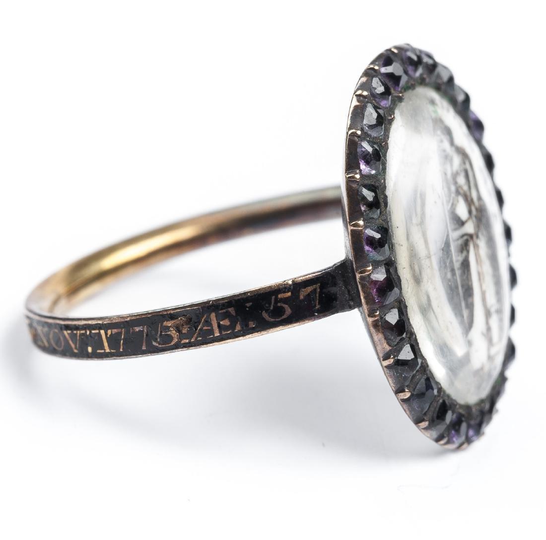 Georgian Mourning Ring - 5