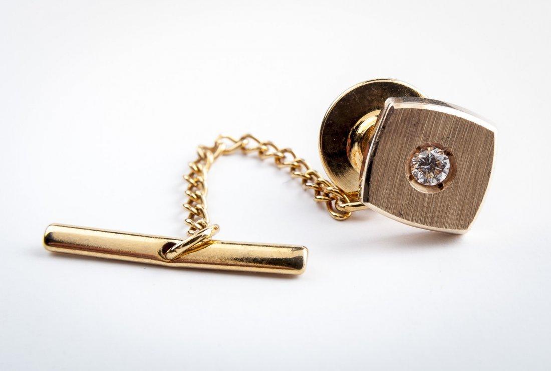 .70 CTW Diamond Stud Earrings & 14K Tie Pin - 3