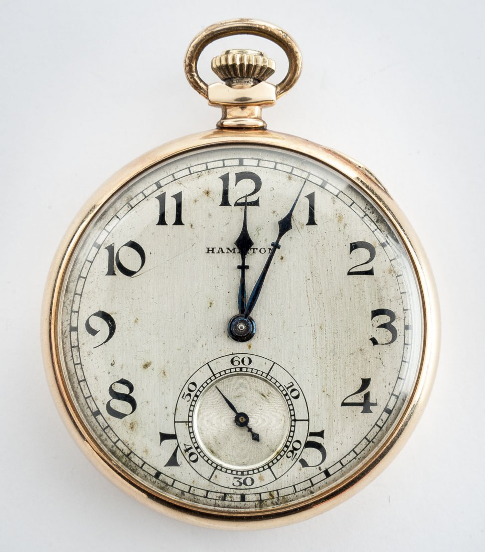 Hamilton 14K 17J Grade 916 Pocket Watch